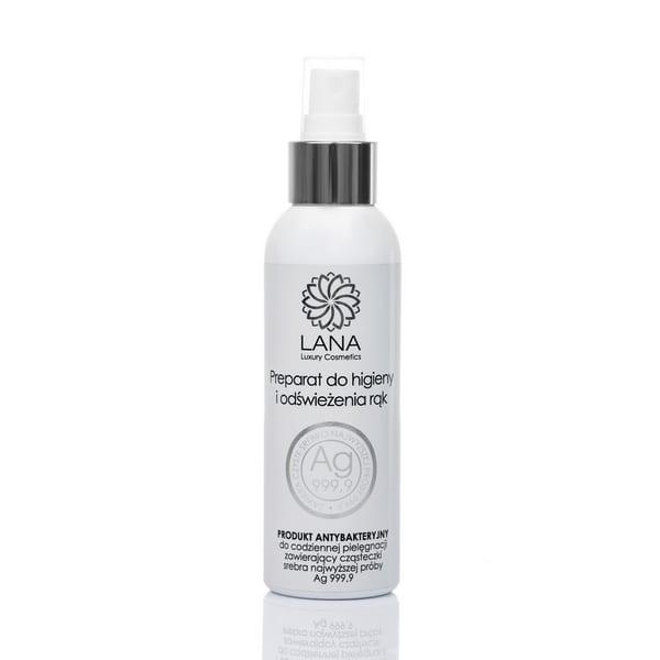 Preparat-do-higieny-i-odświeżania-rąk-ze srebrem-Ag-woda srebrna-płyn antybakteryjny-Lana Luxury-Natura Medica