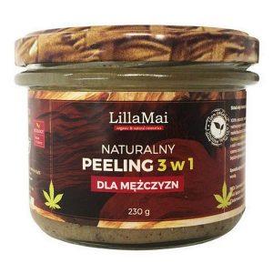 Naturalny peeling 3 w 1 dla mężczyzn LillaMai