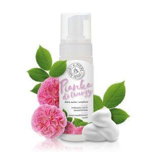 Odmładzająca pianka do mycia twarzy na bazie hydrolatu z róży damasceńskiej E-Fiore
