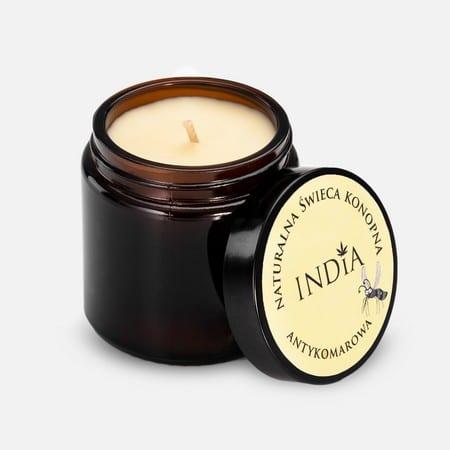 naturalna-świeca-zapachowa-konopna-sojowa-antykomarowa-India Cosmetics