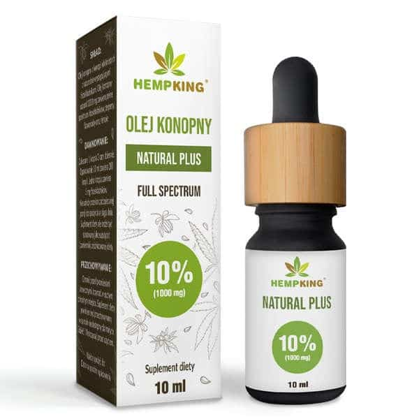 Olej CBD Natural Plus 10% (1000mg) Full Spectrum 10ml Hemp King