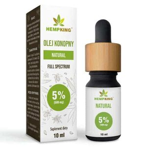 olej konopny CBD 5% Full Spectrum Hemp King