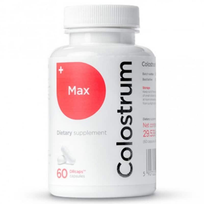 Colostrum Max-40% igG-Immuno First Aid-60kaps-Colostrum Polska-kapsułki-siara bydlęca-odporność