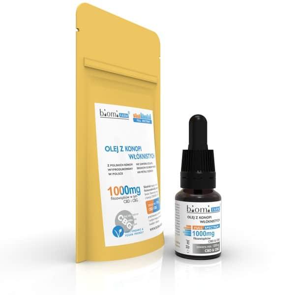 Olej konopny CBD i CBG 5%+5% Fitozwiązków Full Spectrum 10ml Biomi Farm