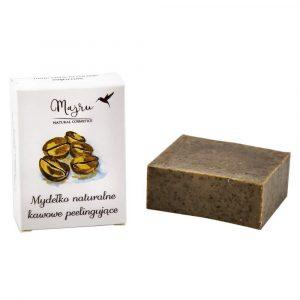 Majru-naturalne-wegańskie-mydło-mydełko-kawowe-kawa-peelingujące-z ziarnami kawy-w kostce-100g
