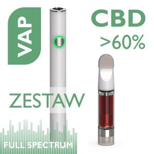 VAP Zestaw Aerozol do aromaterapii z CBD 60% Bateria PENN slime + wkład 1ml Biomi Farm