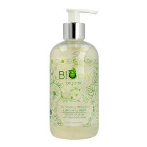 naturalny-żel-micelarny-bez spłukiwania-do mycia-oczyszczania-twarzy-cery-tłustej-mieszanej-z-jasminem-algami-bez sls-bez alkoholu-bionly organic-300ml