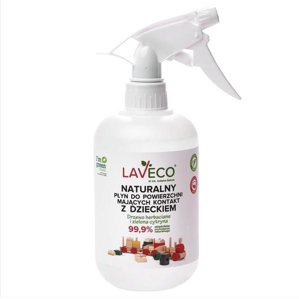 Naturalny płyn do czyszczenia zabawek i powierzchni mających kontakt z dzieckiem 500ml Laveco