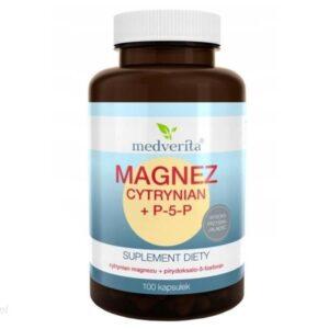 Magnez Cytrynian + P-5-P 100 Kapsułek Medverita