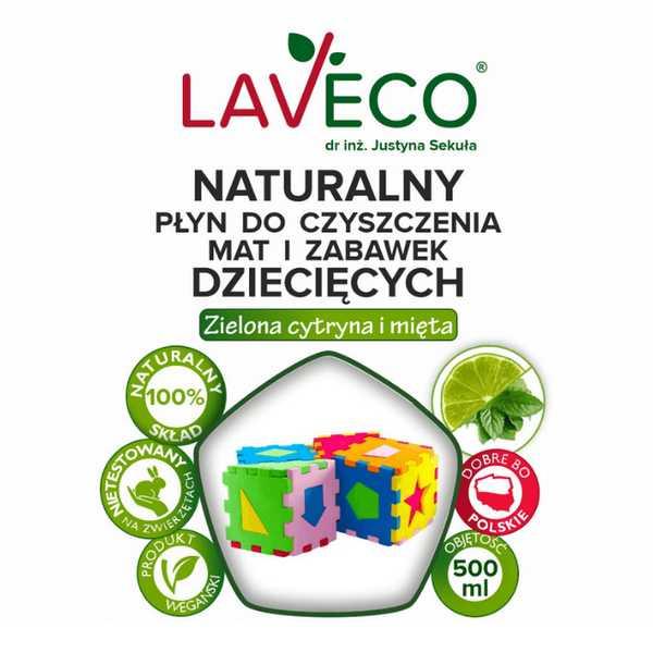 Naturalny Płyn do Czyszczenia Mat i Zabawek Dziecięcych 500ml Laveco