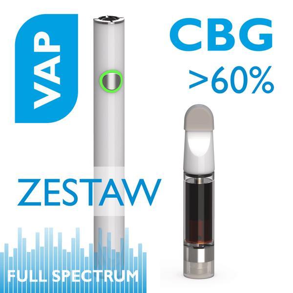 VAP Zestaw Aerozol do aromaterapii z CBG 60% Bateria PENN slime + wkład 1ml Biomi Farm