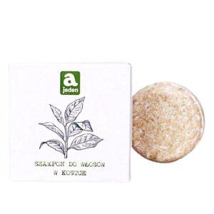 szampon-w kostce-do włosów-suchych-mieszanych-zielona herbata-kaolin-74g-ajeden-wegański-bez sls